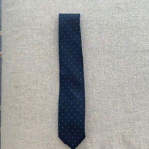 JCrew Navy Polka Dot Tie